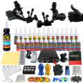 Solong Tattoo Complete Tattoo Kit for Beginner Starter 2 Pro Machine Guns 28 Inks Power Supply Needle Grips Tips TK204-19