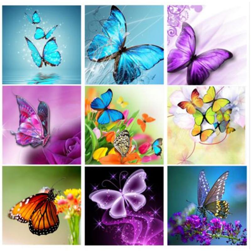 Diy алмазная живопись животное бабочка вышивка крестиком Картина Алмазная вышивка полная квадратная Алмазная мозаика Pictur YY