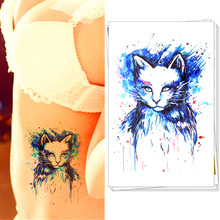 The Storm Cat Temporary Body Art Flash Tattoo Sticker, 21*15cm Waterproof Henna Tatoo Summer Beach Style Adult Sex Products