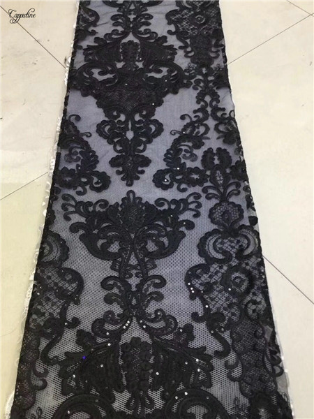 Hoogwaardige borduren Franse netto kant stof hot koop mesh doek voor feestjurk PNZ378 (5 meter/stuk)-in Kant van Huis & Tuin op  Groep 2