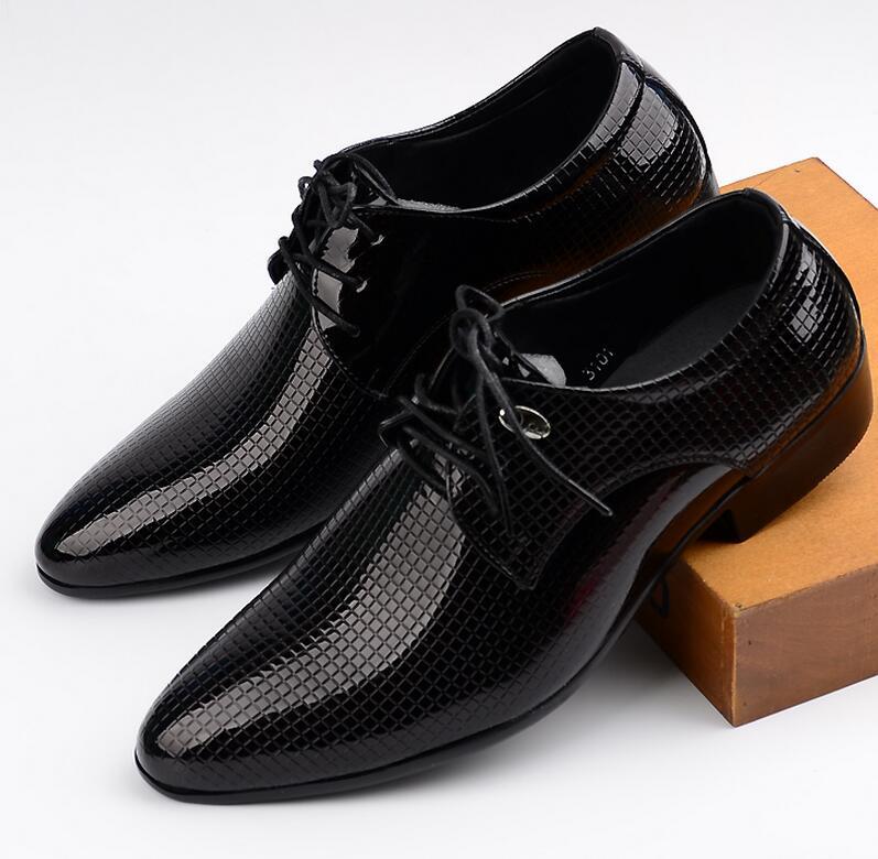 New 2016 Hot Men Dress Shoes European Fashion Style Man Full Grain Leather Shoes Social Sapato