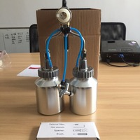 SAT1184 Compressed Air For Painting Chrome Paint For Car Spray Foam Double Nozzle Spray Paint Cans Chrome Paint