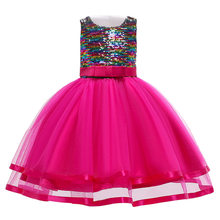 Kids Dresses For Girls Princess Dress Children Girls Costume 2019 Summer Toddler Girls Evening Party Dresses 2 4 6 7 8 9 10 Year(China)