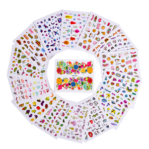 Image 3 - 45pcs Mixed Designs Full Charms Sticker Nail Art Water Decals Deep Color Flower Rabbit Cartoon DIY Decor Manicure Tips TRWG45