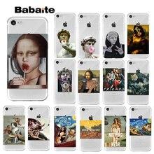 лучшая цена Babaite Art Paintings The Birth Of Venus Phone Case For iPhone 7 8 6 6s Plus 5 5S SE Mona Lisa Van Gogh For iPhone XS MAX XR