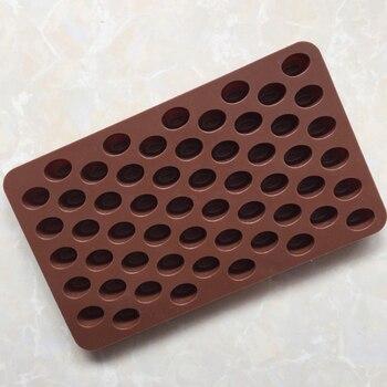 55 cavidades de silicona Mini granos de café Chocolate azúcar molde para caramelos pastel de decoración herramientas de decoración moldes de silicona de chocolate