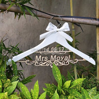 Personalized Rustic Wedding Hanger Bride Bridesmaid Wood Name Hanger Custom Wedding Bridal Dress Hanger Bridal Shower