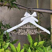 Personalized Rustic Wedding Hanger Bride Bridesmaid Wood Name Hanger Custom Wedding Bridal Dress Hanger Bridal Shower
