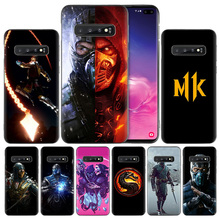 Mortal Kombat Черный силиконовый чехол для samsung Galaxy S10 S10e 5G S9 S8 S7 S6 край J8 J6 J5 J4 плюс 2018 чехол для телефона защитный