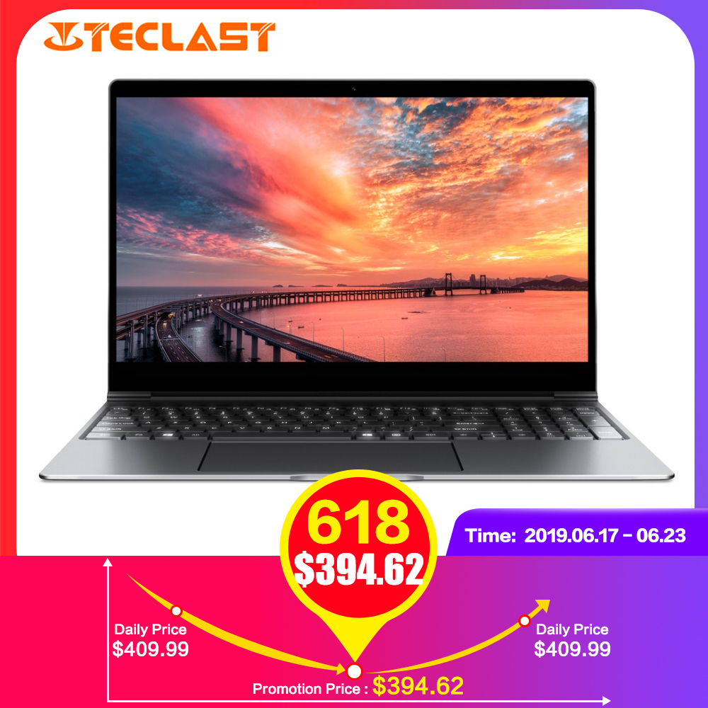 Teclast F15 ordinateur portable 15.6 ''Windows 10 Intel N4100 Quad Core 1.1 GHz 8 GB RAM 256 GB SSD 1.0MP caméra frontale HDMI 5500 mAh ordinateurs portables