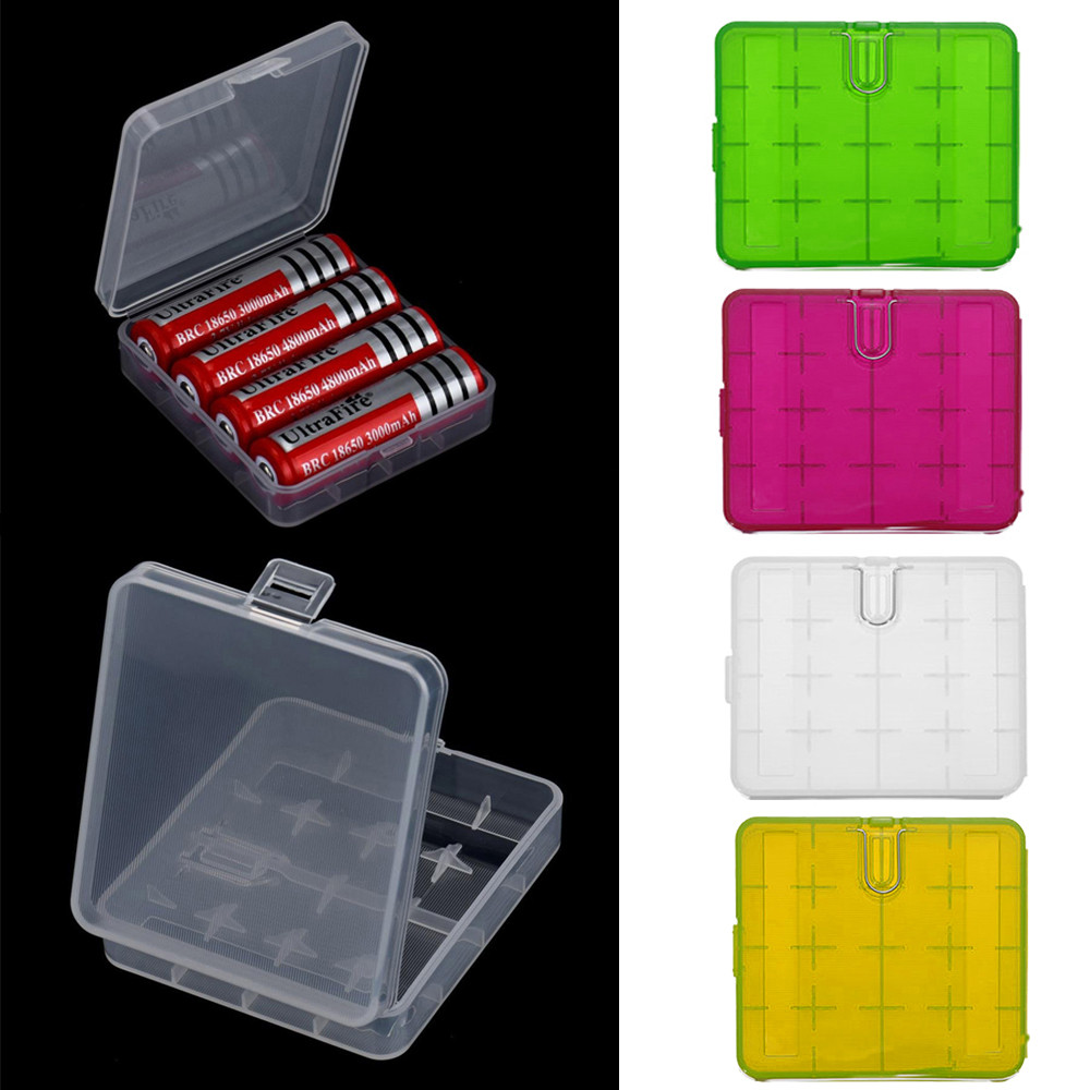 Hard Portable Plastic Storage Box Case Holder For 4 x 18650 Battery Keeps you batteries safe and dry  practical and durable