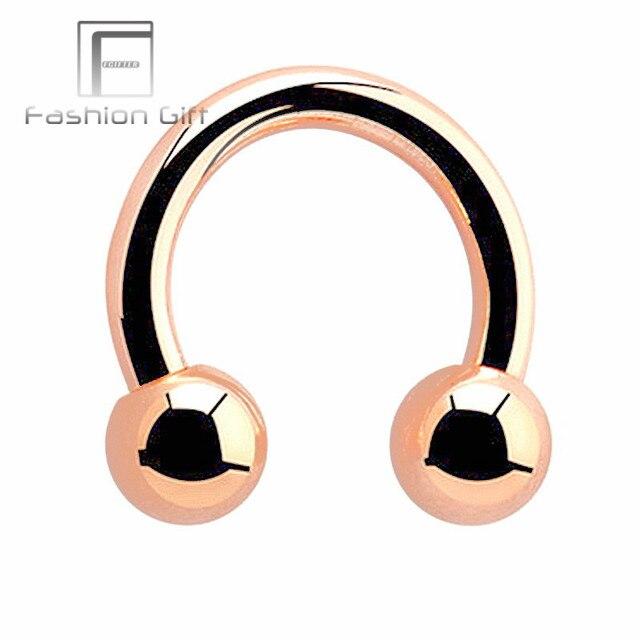 Rose Gold Color Circular Barbell G23 Titanium Septum Piercing Ring