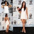 Меган фокс 2008 MTV фильм наград пресс сексуальная акцентированная белый beadd шифон короткое мини платье CD026