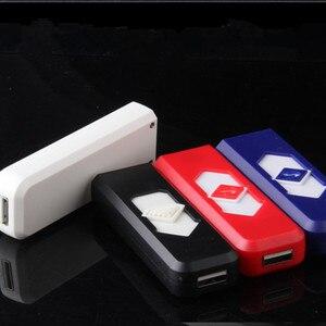 Image 2 - Envío Gratis USB encendedor recargable electrónico encendedor Super hombre cigarrillo Plasma encendedor