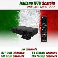 イタリアiptv zgemma h5デュアルコアdvb-s2/t2/c受容ハイブリッドチューナーh.265 3,000ライブ20,000 vodヨーロッパex-ゆう大人イタリア