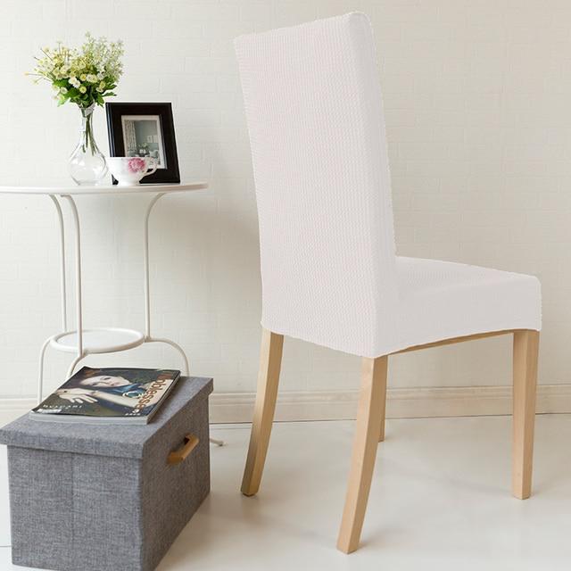 Simple White Banquet Chair Covers Cheap Chair Covers Dining Chair Seat Covers Folding Banquet Stretch Furniture Covers 1Pcs & Simple White Banquet Chair Covers Cheap Chair Covers Dining Chair ...