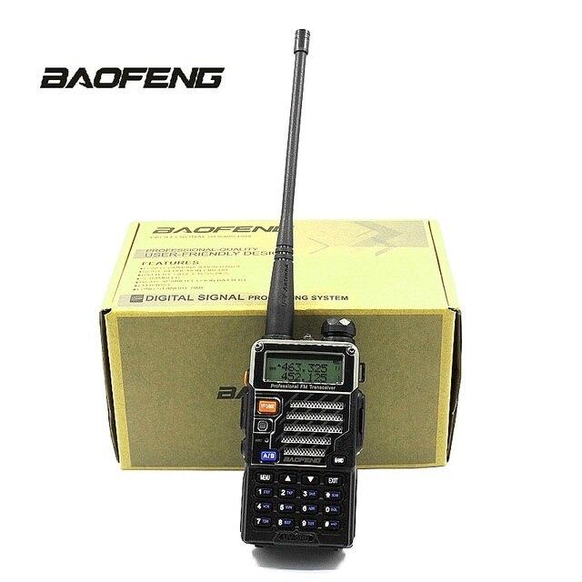 Baofeng UV 5RB רדיו 2 בדרך כף יד סורק עבור ספורט תחת כיפת השמיים משטרת אש & רווח F אנטנה PTT אפרכסת משדר נייד