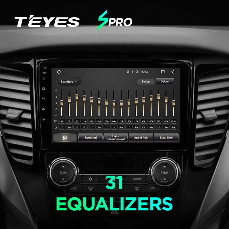 TEYES SPRO para Mitsubishi Pajero Sport 2016-2018 auto Radio Multimedia reproductor de Video GPS de navegación Android 8,1 Sedán