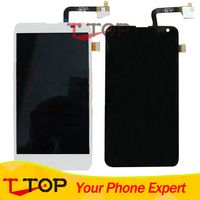Black White For Fly IQ4514 EVO Tech 4 LCD Display Touch Screen Digitizer Assembly 1PC Lot
