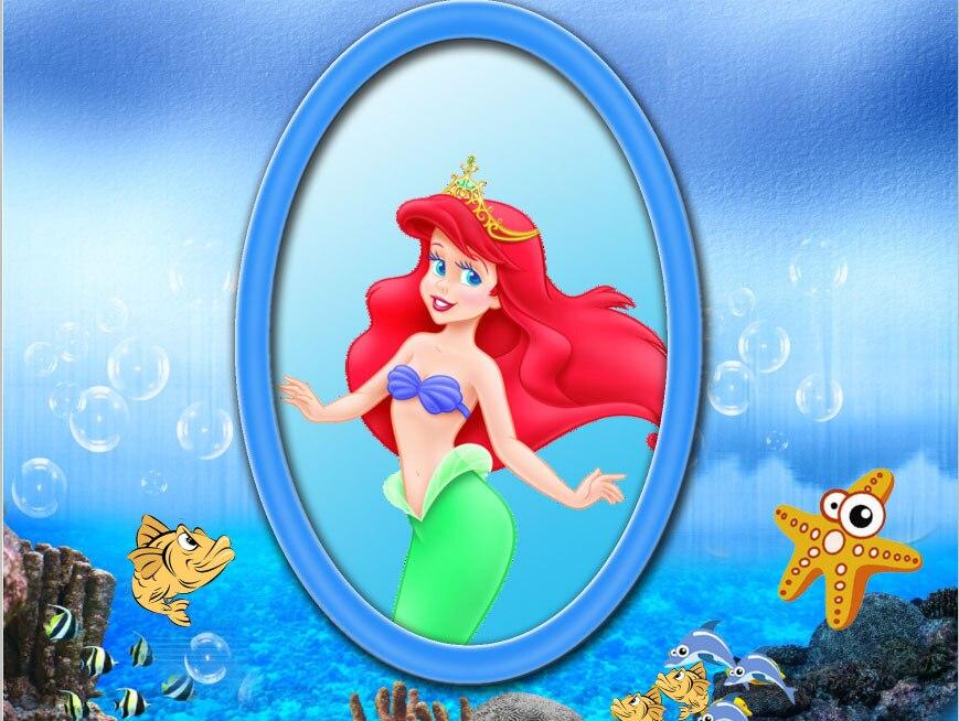 Us 10 73 18 Off 7x5ft Under Sea Rocks Reef Seabed Ariel Princess Little Mermaid Custom Photo Studio Backdrop Background Vinyl 220cm X 150cm In