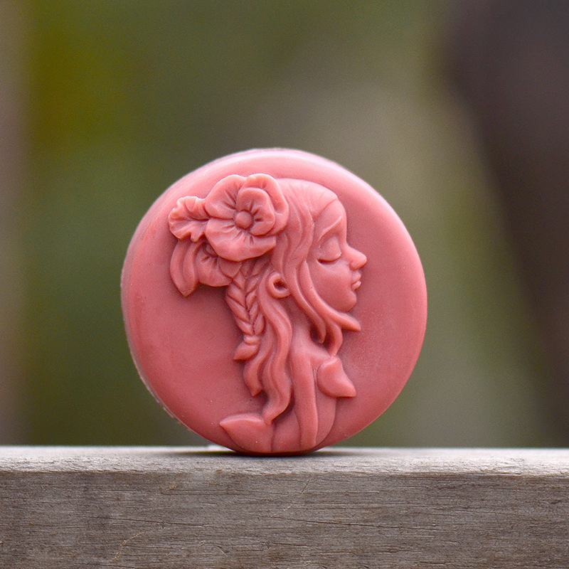 Silicone Soap Mold Round Girl Shape Natural Handmade Bath Bomb Chocolate Candy Mould Craft Resin Clay Gift Tools in Soap Molds from Home Garden