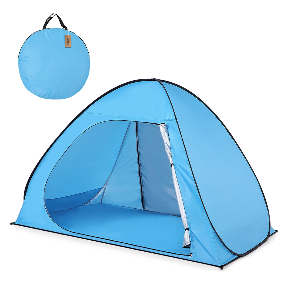 Lixada Automatic Beach Tent UPF50+ UV Protection Pop Up Camping Tent Sun Shelter Cabana for 2-3 Person Beach Shade Sunshelter