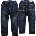 3983 denim и флис темно-синий теплый мальчики джинсы брюки для мальчиков теплые брюки двухэтажных толстые дети мода новый 2016