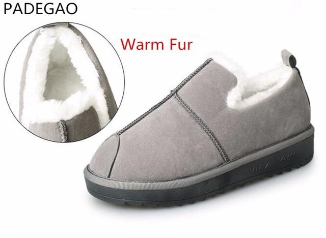 273c30498d6 PADEGAO Hiver Neige Bottes Marque Cheville Bottes En Caoutchouc De Mode D hiver  Chaussures Pas