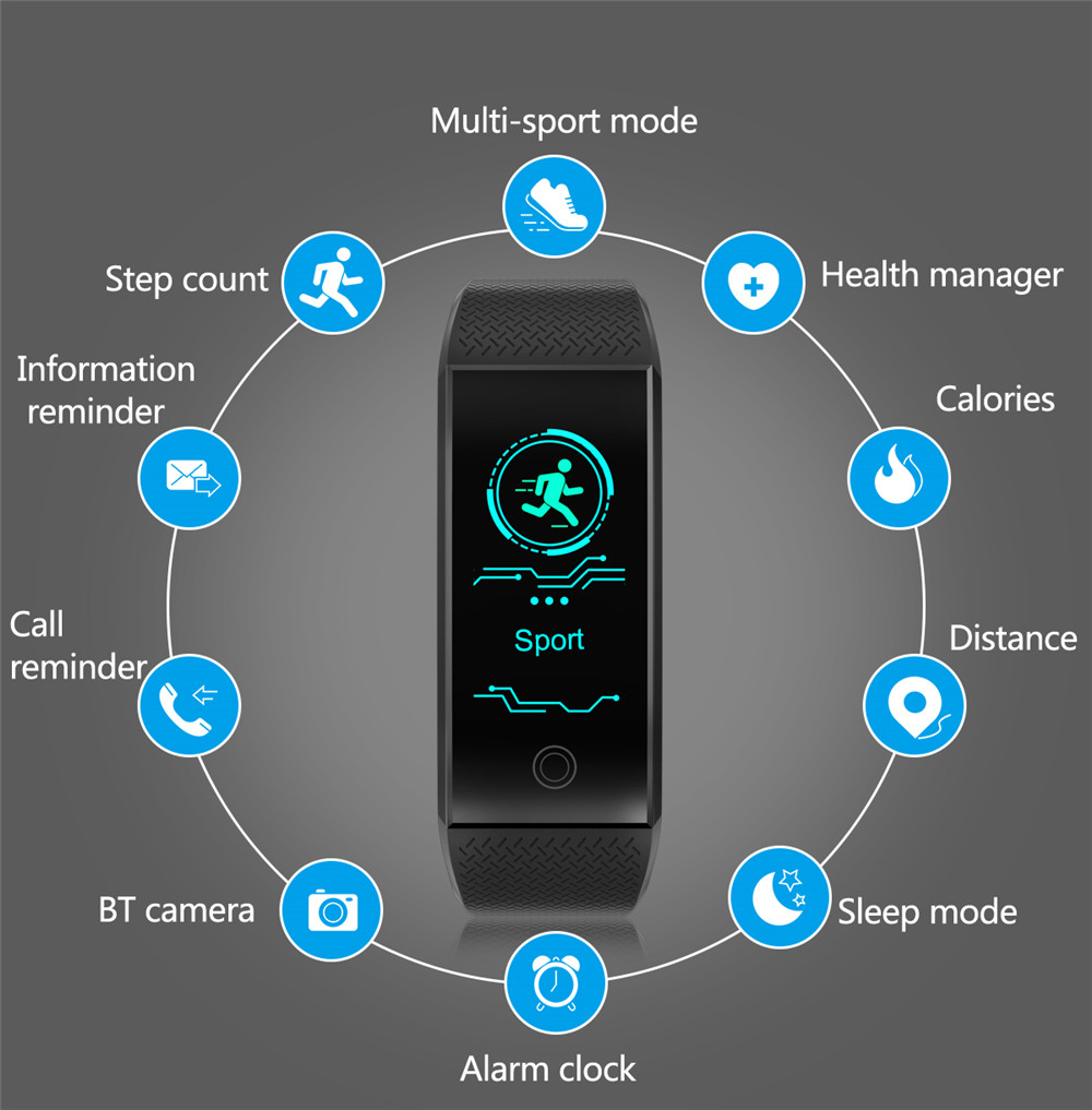 Esportes de Fitness Rastreador Bluetooth Smartwatch.