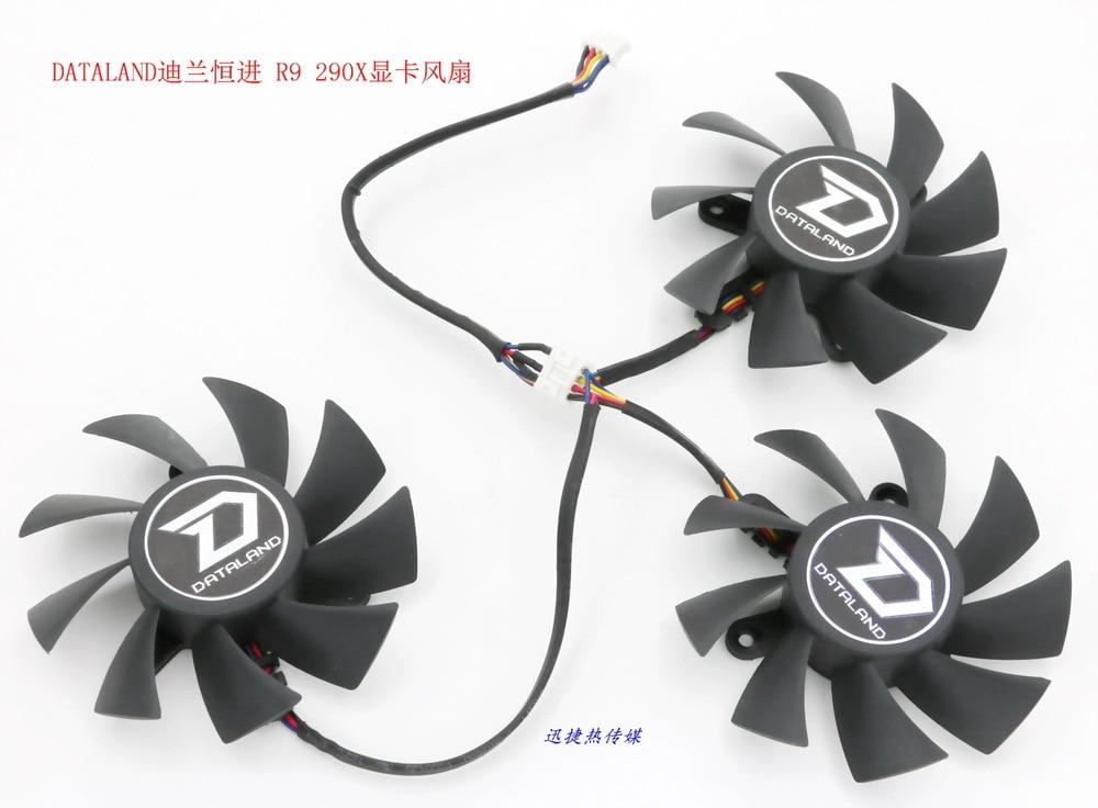 New Original Power Logic PLA08015D12HH 12V 0.35A for DATALAND PowerColor R9 290 / 290X a drag three graphics card fan