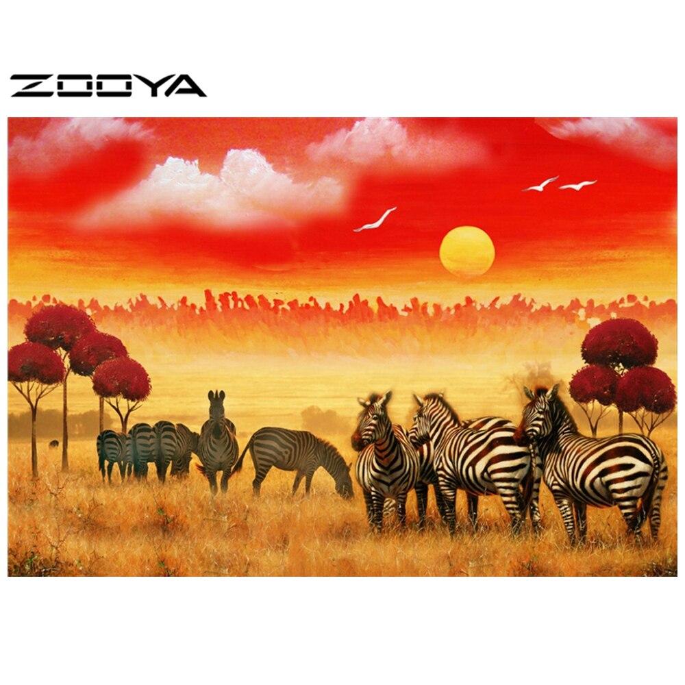 схему зебры в саванне вышивка