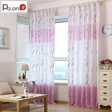 Cortinas Blackout 40%-70% Pastoral Impreso Física Endiess Rosa de Poliéster Tejido para la Sala de estar Dormitorio Moderno