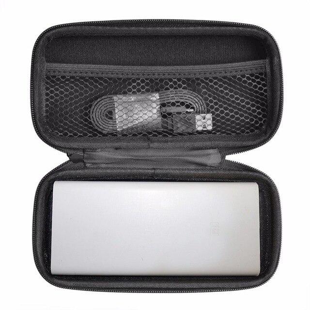 100% 새로운 eva 하드 가방 커버 케이스 20000 mah 샤오 미 미 전원 은행 2c 커버 휴대용 외부 배터리 전화 powerbank 가방