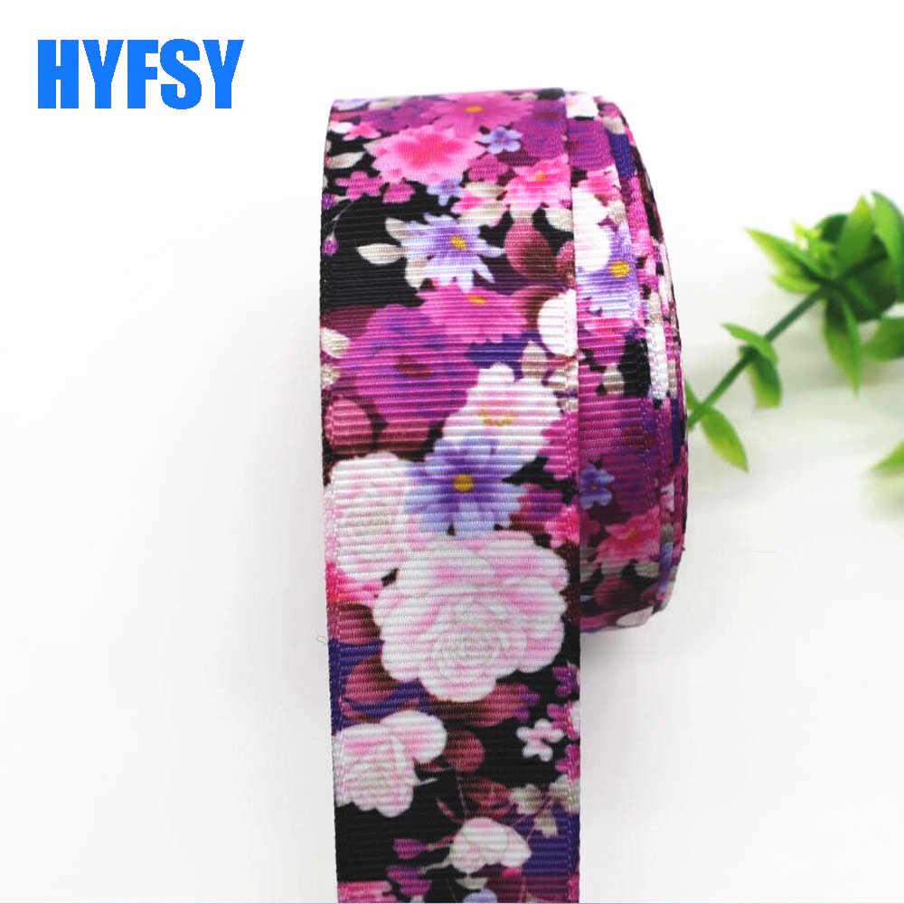 Nuevo 1 '25mm cinta de flores 5 yardas DIY hecho a mano material tocado arco ropa material flores