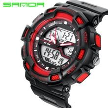 SANDA Masculino Hombres Deportes Relojes Moda Casual Impermeable Reloj de Cuarzo Analógico y Digital Militar hombres Relojes Deportivos Relogio