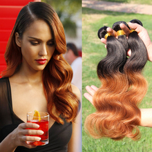 Cheap Peruvian Virgin Hair Body Wave 3 Bundles Ombre Hair Weave Extensions,Peruvian Two Tone Unprocessed Human Hair Weaves BB311