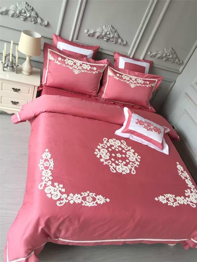 Wedding bed sheet set - Chinese Traditional Style 100 Egyptian Cotton Bedding Set 4pcs Luxury Home Textile Wedding Celebrate Bed