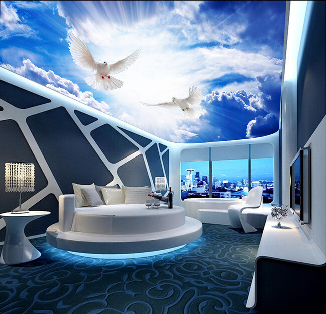 Custom papel DE parede 3 d,sun sky for the living room bedroom ceiling wall waterproof wallpaper custom wallpaper murals ceiling the night sky for the living room bedroom ceiling wall waterproof papel de parede