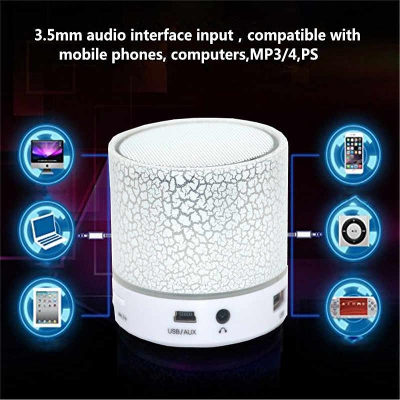Dropship Automotive Auto Radio 1 PC DC 5 V 500 mAh 3 W Leichte A9 LED Drahtlose Bluetooth Subwoofer Speack mit USB Ladekabel