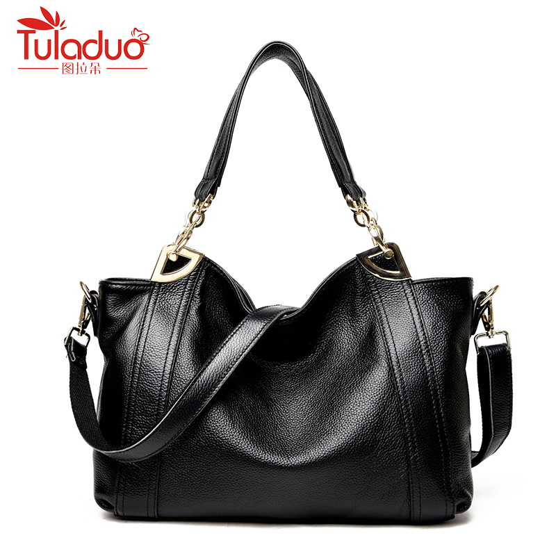 цена на 2018 New Arrive Women Shoulder Bags High Quality Female Bag Large Capacity Genuine Leather Women Handbags Designer Ladies Bags