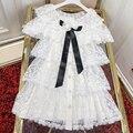 Elegant White Lace Dress Women Ruffles Dress 2019 Summer Women Mini Dress