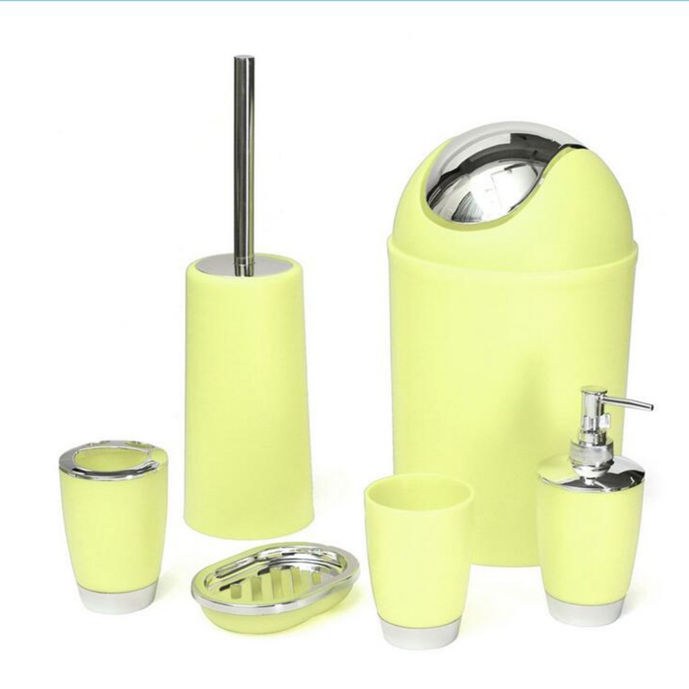 Aliexpress.com : Buy 2017 6Pcs/set Bathroom Accessory Bin Soap Dish  Dispenser Tumbler Toothbrush Holder Set Bathroom Wash Bath Set Storage From  Reliable ...