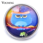 10PCS/Lot Wholesale Vocheng 18mm Glass Snap Charm Owl DIY Button Vn-1203*10 Free Shipping