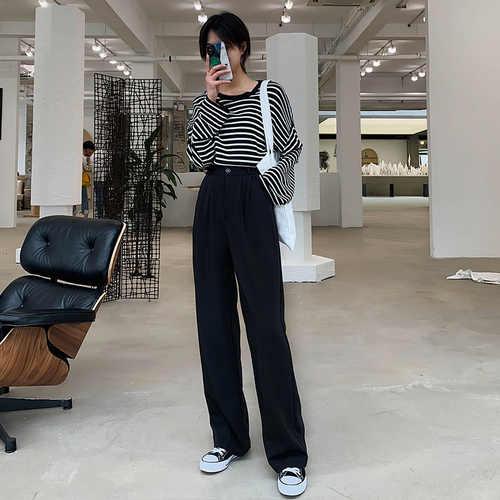 パンタロン 2019 秋ファッション女性ワイド脚全身パンツハイウエストカジュアルワイン赤パンツ BV64