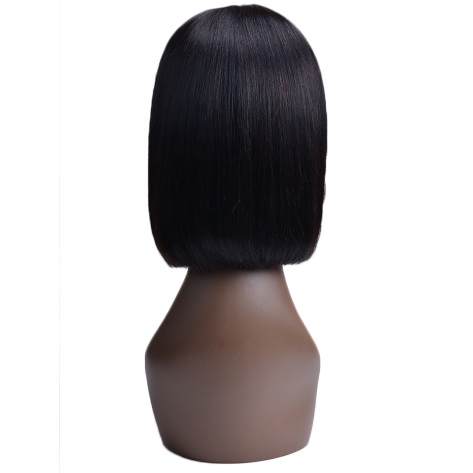 Short Lace Front Human Hair Wigs Bob Wig Full And Thick For Black Women Natural Color Brazilian Remy Hair Free Shipping Lace Wigs