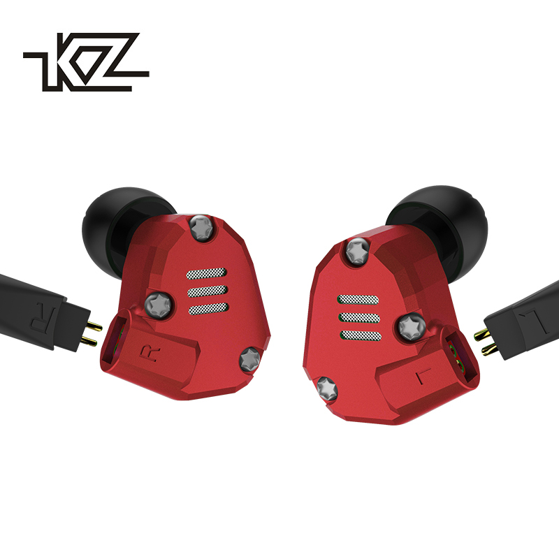 KZ ZS6 Earphones 2DD 2BA 8 Drivers Hybrid In Ear Stereo Sport Headset Suitable HIFI Noise Isolating Monitor Headphones ZS5 Pro kz headset storage box suitable for original headphones as gift to the customer