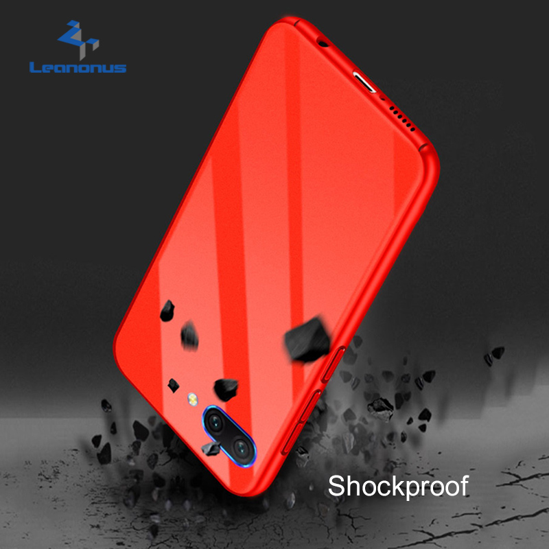 Leanonus Glossy PC Plastic Phone Case for Huawei Honor 10 Bag Fashion Rugged Armor Shockproof Fitted Case for Honor 10 Coque