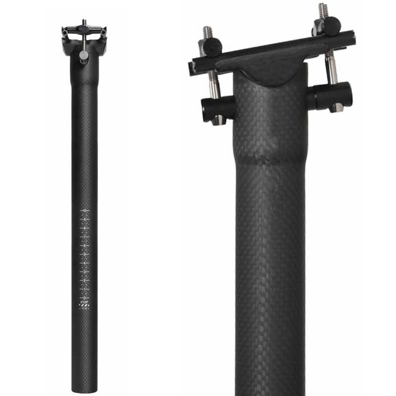 NO LOGO offset 25° Carbon MTB Road Bike Saddle post Seatpost tube 27.2 30.8 31.6
