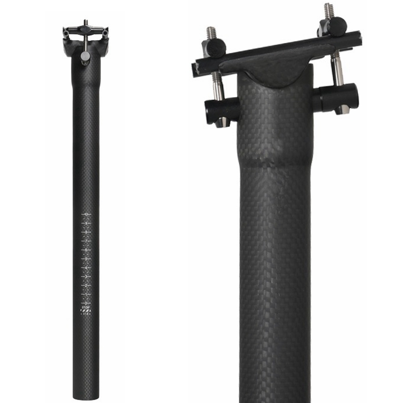 NO LOGO Bicycle Carbon Fiber Seat Post MTB/Road Bike Seatpost 27.2/30.8/31.6mm Ulterlight Titanium Screw 350/400mm 3K Matte NO LOGO Bicycle Carbon Fiber Seat Post MTB/Road Bike Seatpost 27.2/30.8/31.6mm Ulterlight Titanium Screw 350/400mm 3K Matte