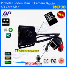 Square Small Covert HD 960P Audio&Video Pinhole Mini IP Camera Micro SD TF Card With AUDIO Network P2P Onvif 2.0 CCTV Security